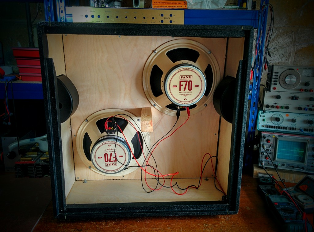 Two Fane F70 drivers in the 212A cabinet
