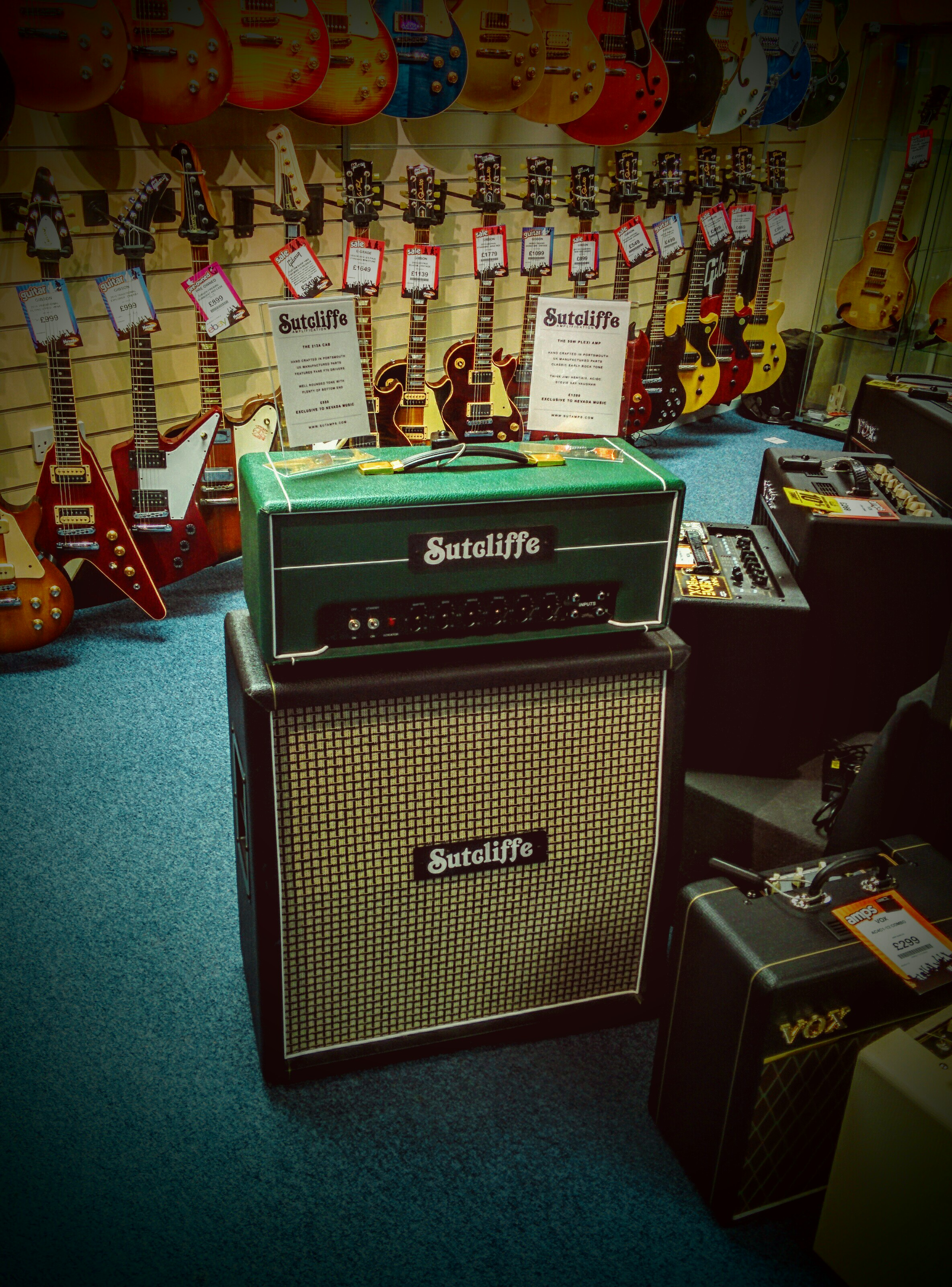 Sutcliffe Amplification available to test at Nevada Music in Portsmouth